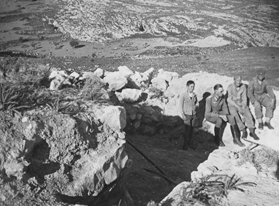 August Schörgendorfer at a dig on Crete in World War II