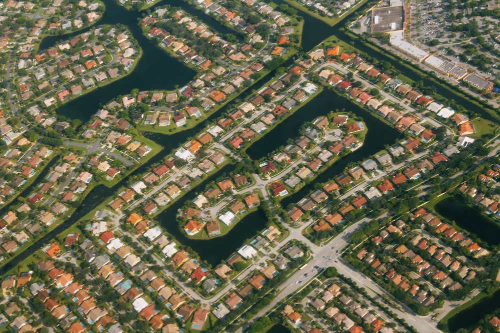 Aerial view of Sunrise, Florida