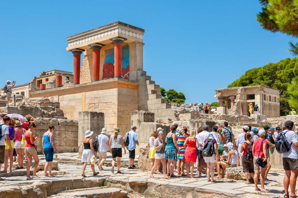 Knossos Tourists