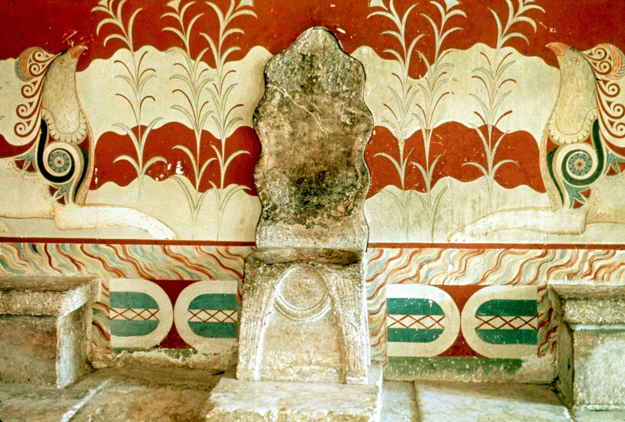 The throne room at Knossos palace