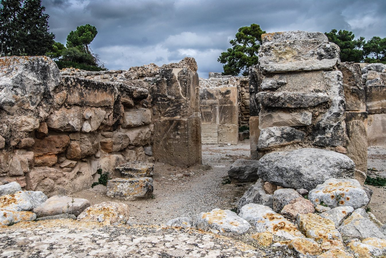 The ruins of Phaistos Palace