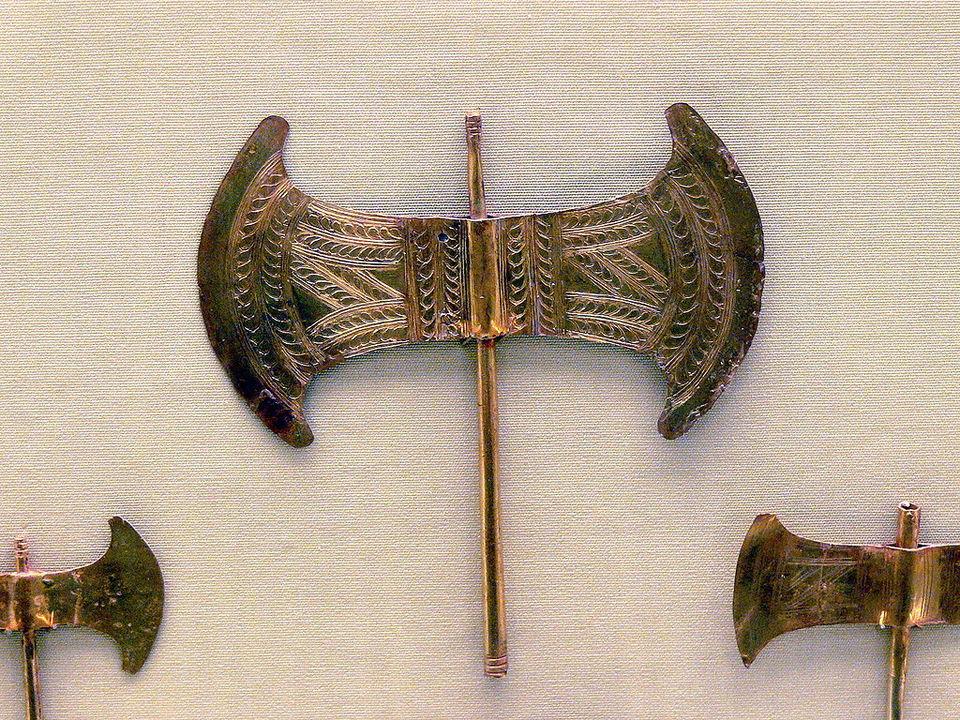 Golden Minoan labrys