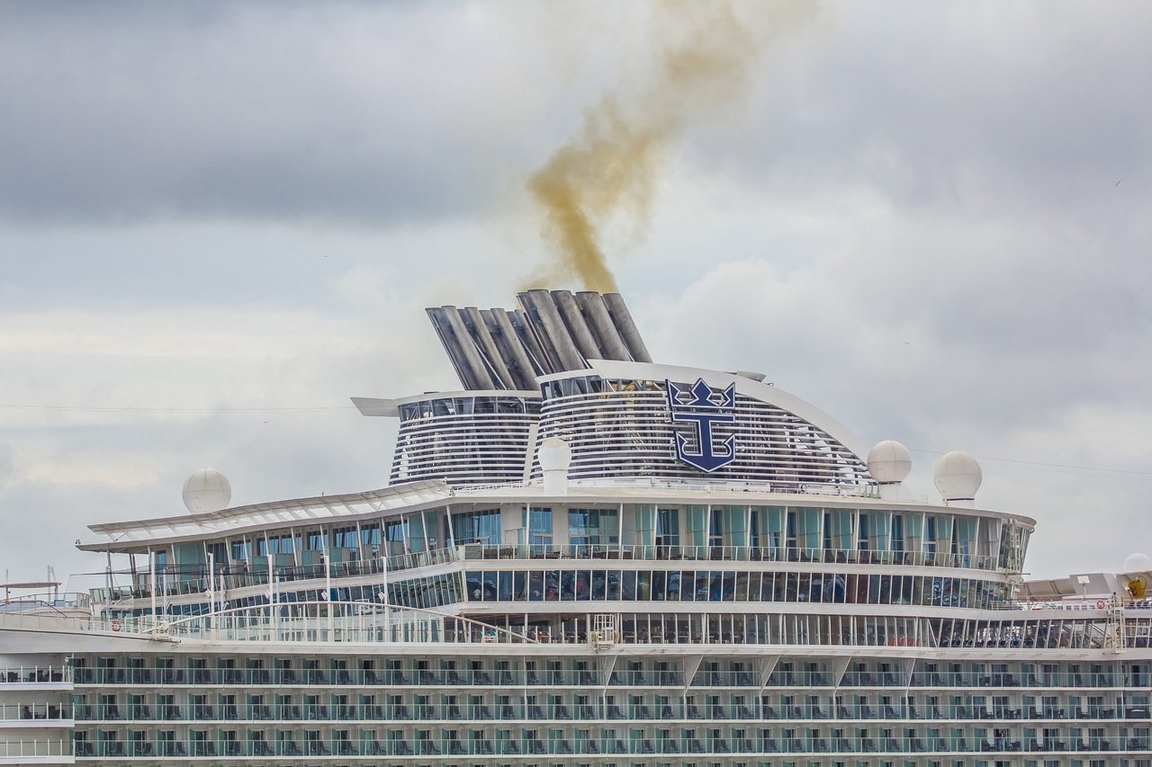 The immense power it takes to push a cruise ship through the seas is unbelievable.