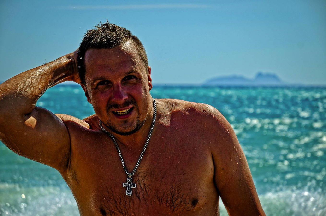 Evgeny Maruskin on the Gulf of Mesara Crete