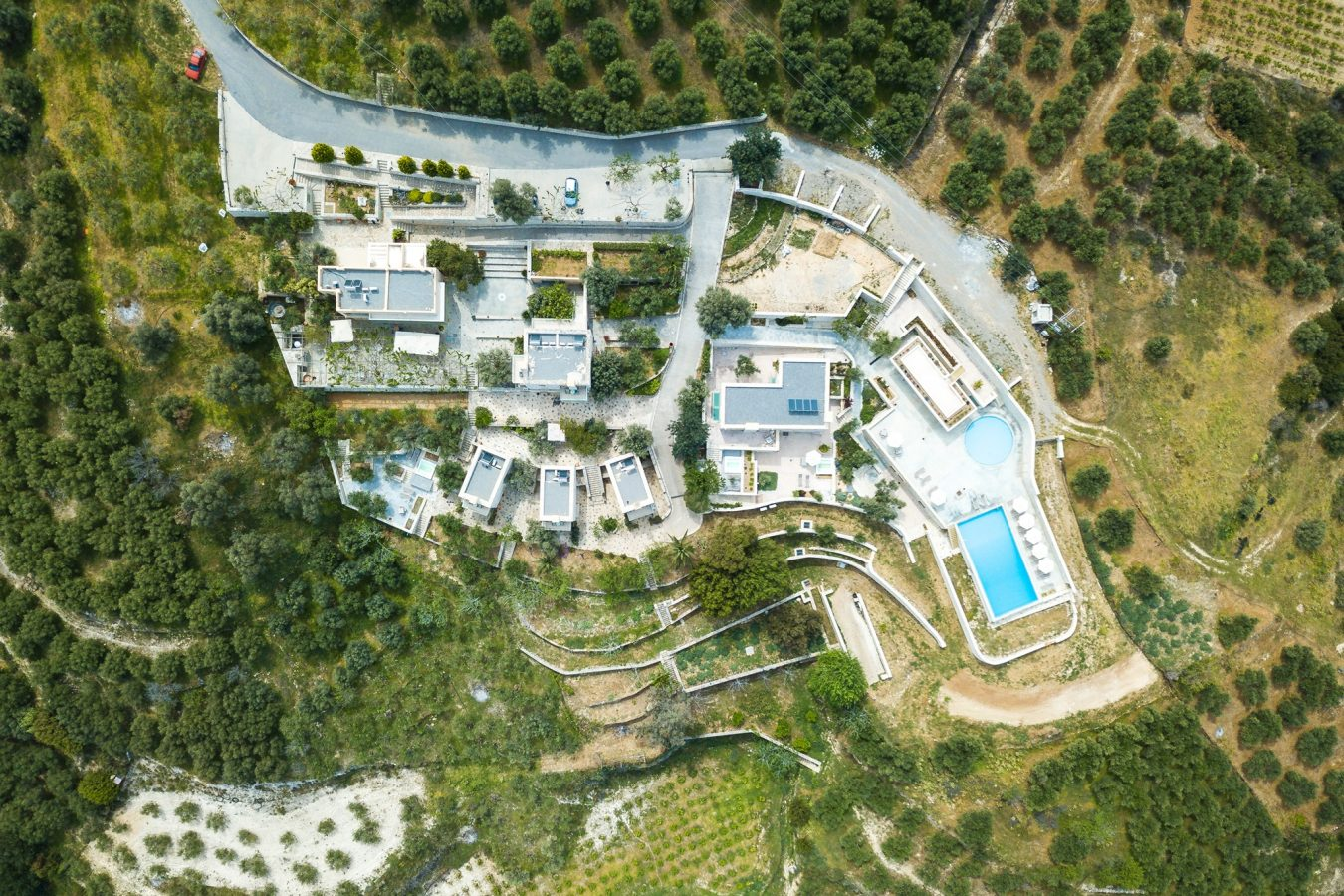 Aerial view of Dalabelos Agrotourism Resort