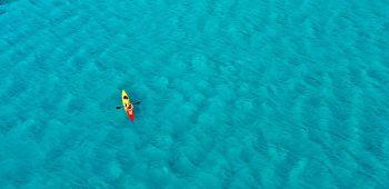 Kayaking off Falasarna Beach