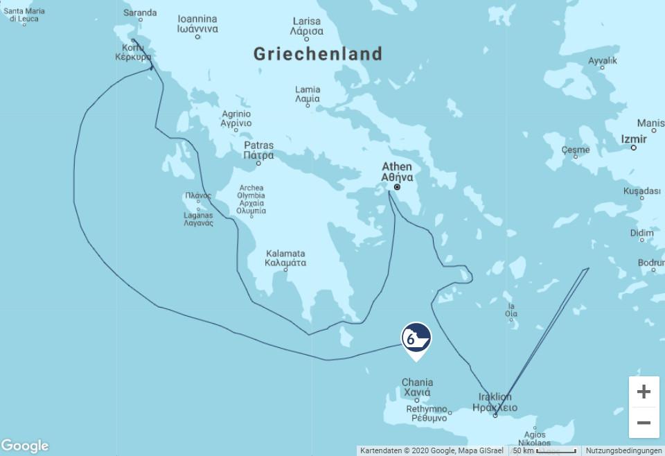 Route der Mein Schiff 6