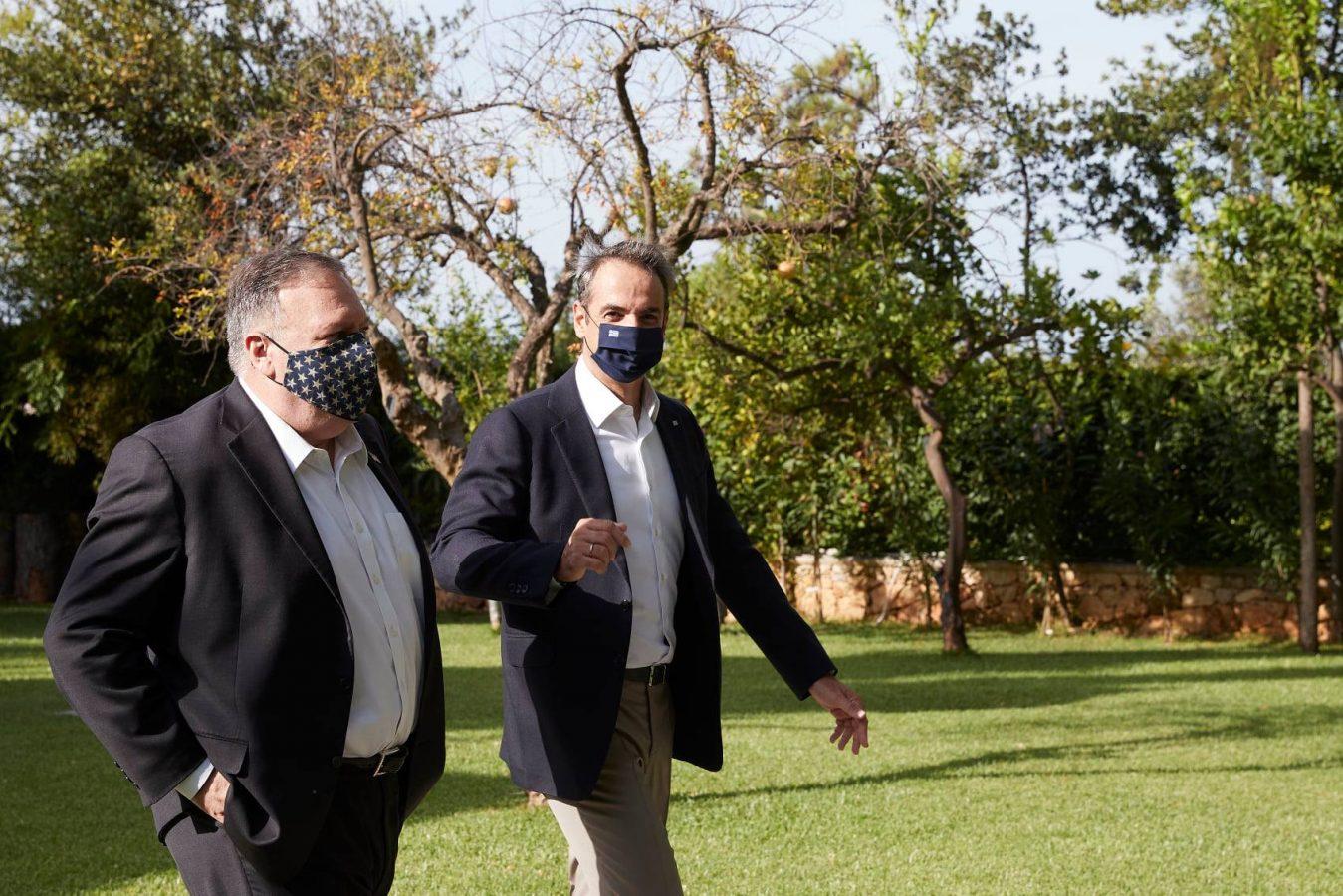 U.S. Secretary of State Mike Pompeo and Greece's PM Kyriakos Mitsotakis