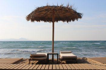 Empty Greek beach