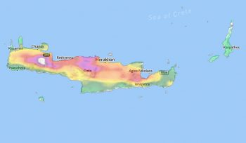 Crete rainfall
