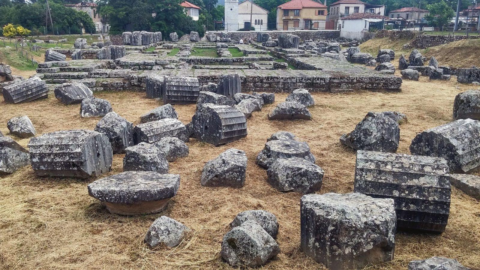 Archaeological site of the Temple of Athena Alea at Tegea (2017)