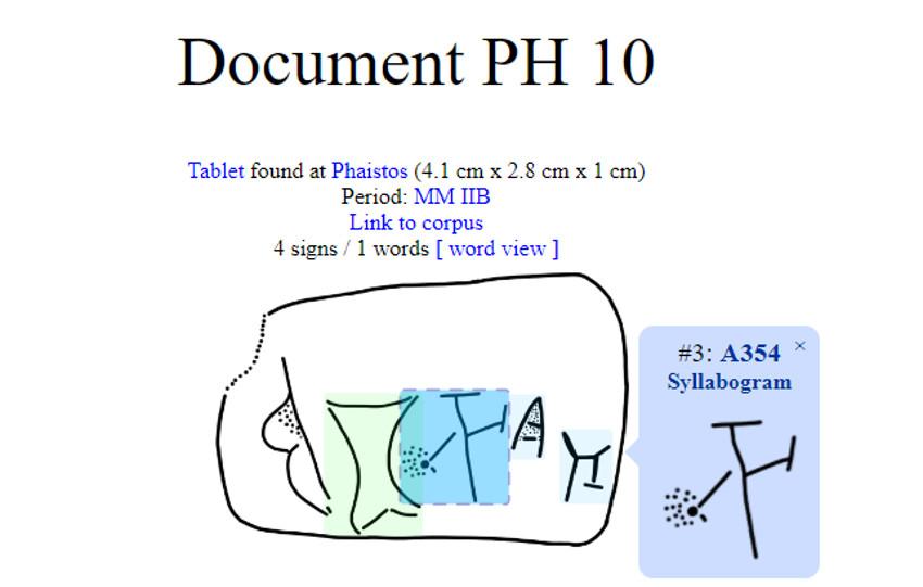 Phaestos syllabolgram from SigLaA database