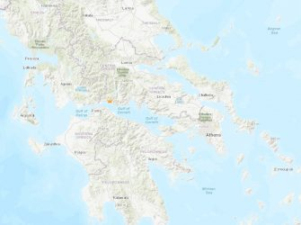Kamárai, Greece quakes via USGS