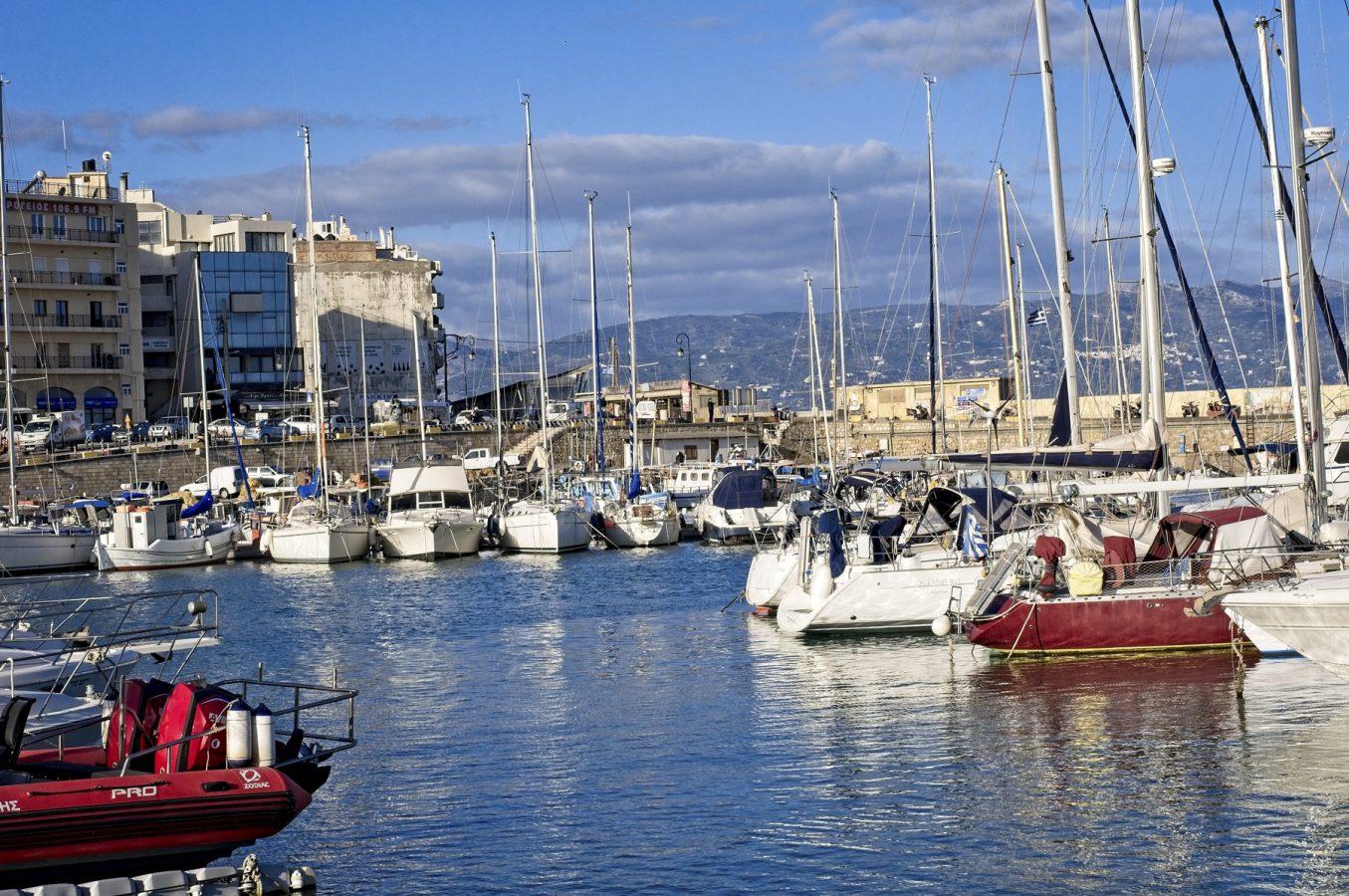 Heraklion's picturesque marina