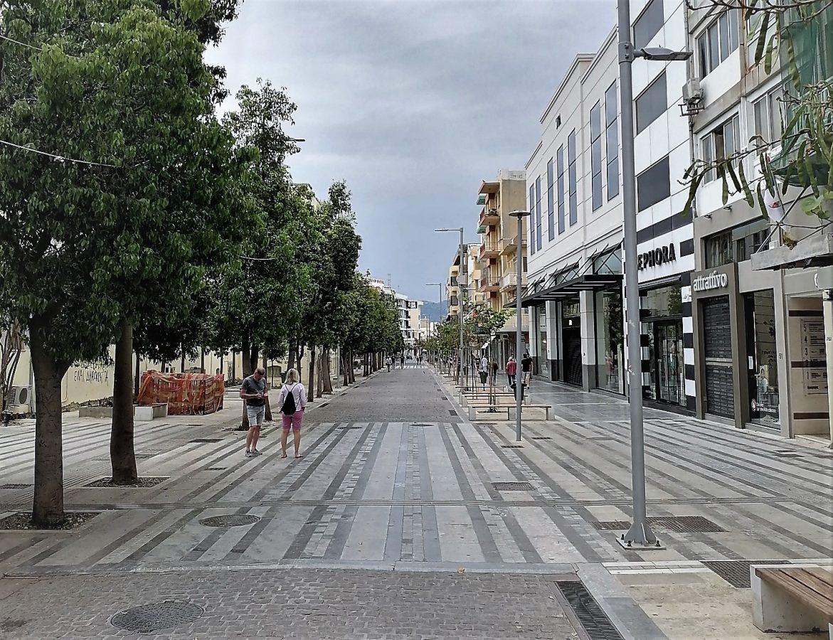 Heraklion shopping street