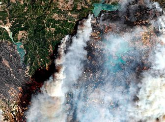 1500 hectares burn