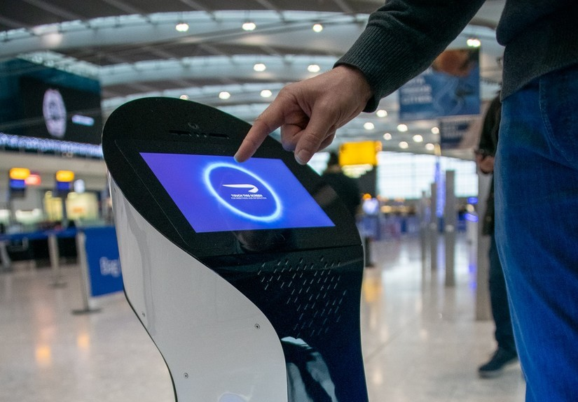 AI-powered travel innovations: AI-powered autonomous robot.