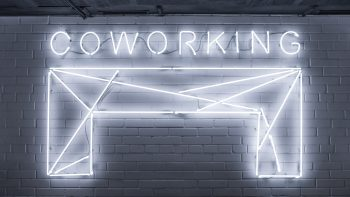 coworking spaces illustration.