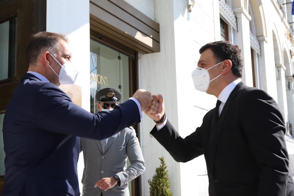 HCH President Alexandros Vassilikos and Greek Tourism Minister Vasilis Kikilias with the all too familiar fist pump